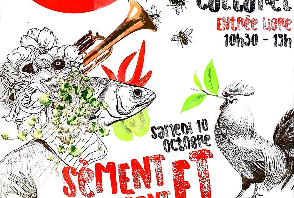"""Participation de l'AAPISE au 1er Festival Agri Culturel """"Sèment et s'aimeront"""" organisé par l'association La Lisière""""."""